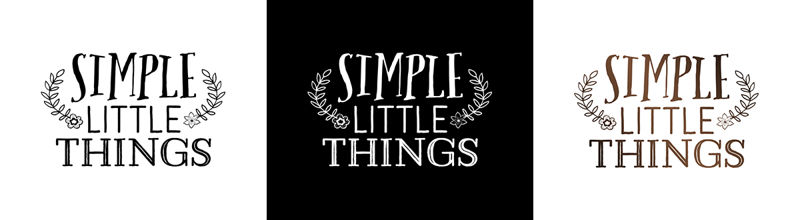 Simple Little Thing Logos
