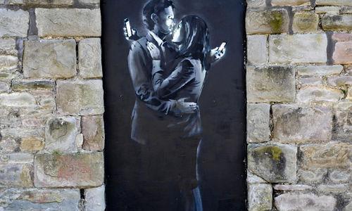 banksy artwork wall