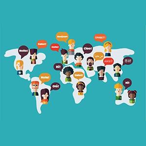 languages on world map